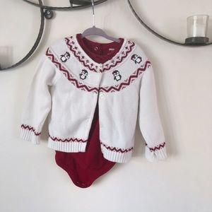 Gymboree Holiday Penguin Sweater